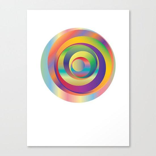 Circles - Optical Game 9 Canvas Print
