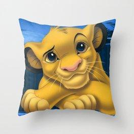 Lion Film Throw Pillow