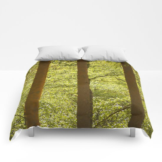 Three Tree Trunks  Comforters