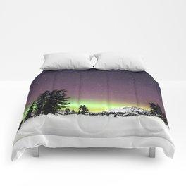 Elfin Lake Aurora Comforters
