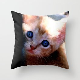 Baby Blue Eyes by Artgal Creations Throw Pillow