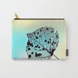 Weathered Poplar Leaf, Skeltn leaf Carry-All Pouch