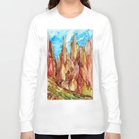 southwest Long Sleeve T-shirts featuring Rocky Southwest by Rosie Brown