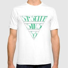 s6_tee_4 - I'm an S6 Phonetic Mens Fitted Tee White MEDIUM