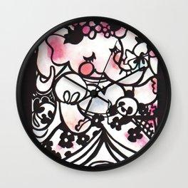 Bridesmaid Pandas Wall Clock