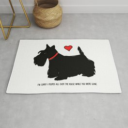 Scottish Terrier Dog-I'm Sorry (red heart) Rug