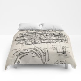 Airplane Jet Engine Patent - Airline Engine Art - Antique Comforters