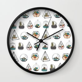 Tiny Terrariums  Wall Clock
