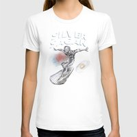carl sagan T-shirts featuring Silver Sagan by The Cracked Dispensary