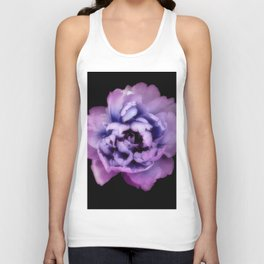 Indulgent Darkness, Purple Peony Unisex Tank Top