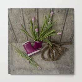 First tulips for mummy Metal Print