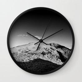 Monochrome mountain Wall Clock