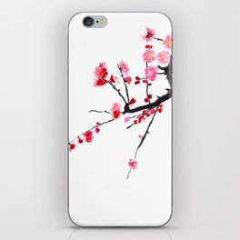 red plum flower iPhone Skin