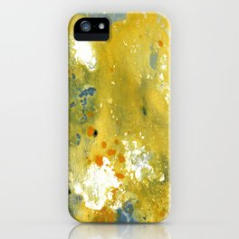 Abstract Acrylic Painting YELLOW iPhone Case