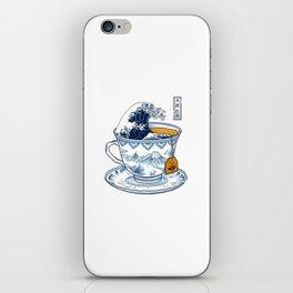 The Great Kanagawa Tea iPhone Skin
