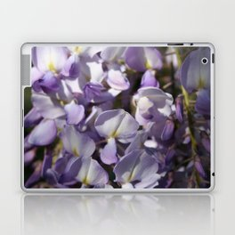Close Up Of Lavender Wisteria Blossom Laptop & iPad Skin