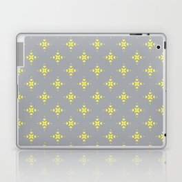 Ornamental Pattern with Grey and Lemon Yellow Colourway Laptop & iPad Skin