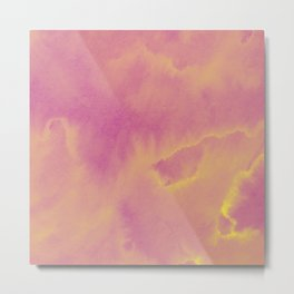 Watercolor texture - dusty pink Metal Print