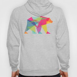 Fractal Bear - neon colorways Hoody