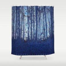Denim Designs Winter Woods Shower Curtain