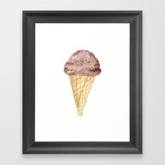 Watercolour Illustrated Ice Cream - Chocolate Dream Framed Art Print