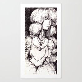 HEART PRINCESS Art Print