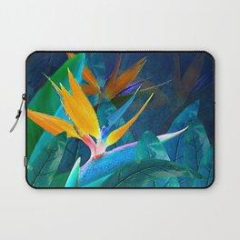 Bird of Paradise Under a Hawaiian Moon Laptop Sleeve