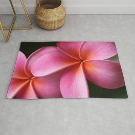 Pua Lei Aloha Cherished Blossom Pink Tropical Plumeria Hina Ma Lai Lena O Hawaii Rug