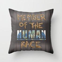 Human Race Throw Pillow