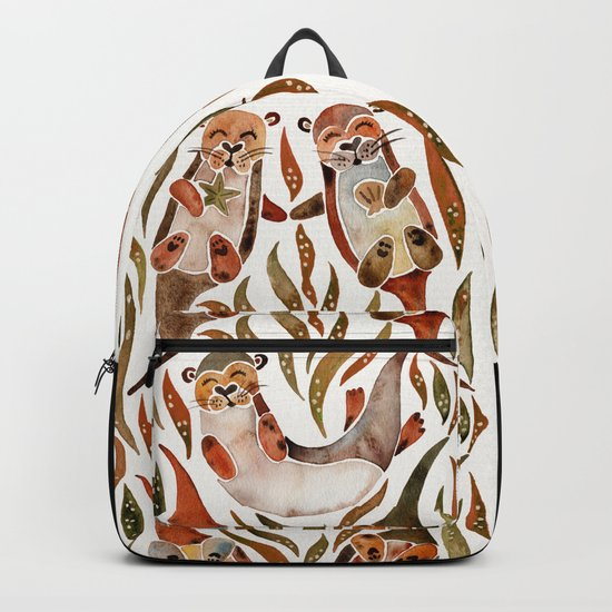 Five Otters – Sepia Palette Backpack