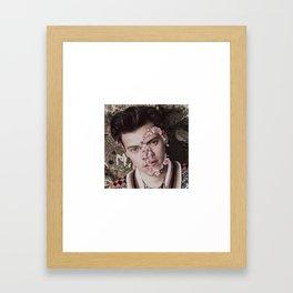 Harry Styles Flower Face Framed Art Print