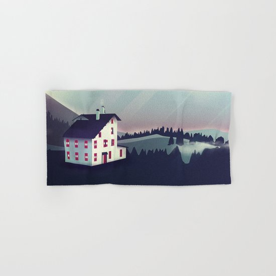 Castle in the Mountains Hand & Bath Towel