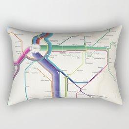 Itinéraires de train à grande vitesse de la France Rectangular Pillow