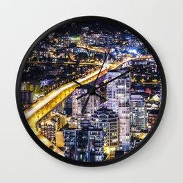 1428 Voyeuristic Vancouver Cityscape Golden Bridge Wall Clock