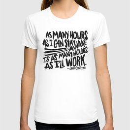 Jon Contino on Work Ethic T-shirt