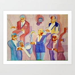 Musician Series I: Cubism Jazz Nod Art Print