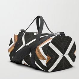 Urban Tribal Pattern 1 - Concrete and Wood Duffle Bag