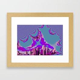 never sleeps Framed Art Print