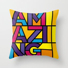 Amazing - Stained Glass Throw Pillow