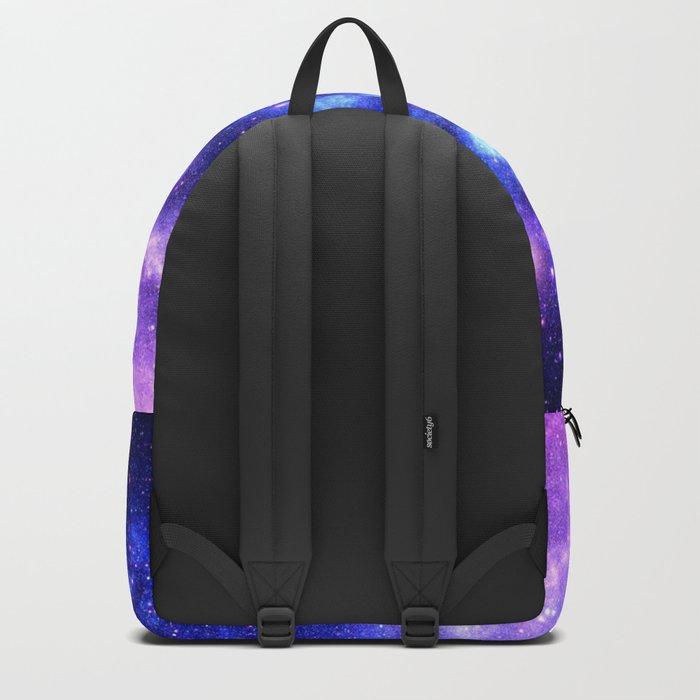 Purple Blue Galaxy Nebula Backpack