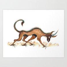 Heraldic Fantasy Creature Art Print