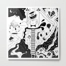 Toxic Gent Metal Print