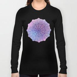 big paisley mandala in light purple Long Sleeve T-shirt