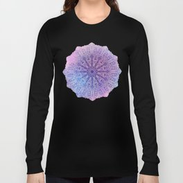 big paisley mandala in light purple Long Sleeve T-shirt