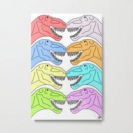 Colorful T Rex Metal Print