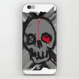 Skull with one eye red iPhone Skin