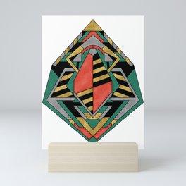 Dragon's Egg - Geometric Abstract Design Mini Art Print