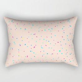 Tiny Dots on Pale Peach Rectangular Pillow