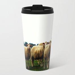 Sheep on a Grassy Hill Travel Mug