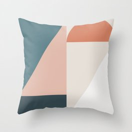 Cirque 01 Abstract Geometric Throw Pillow